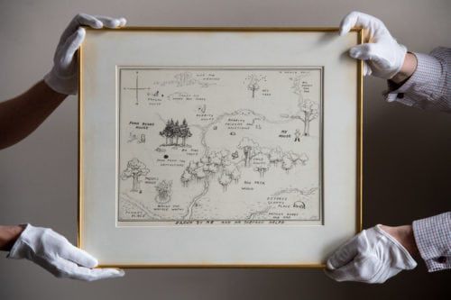 Winnie-the-pooh map sold for a half of million